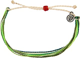 Pura Vida Jewelry Bracelets - 100% Waterproof and Handmade w/Coated Charm, Adjustable Band