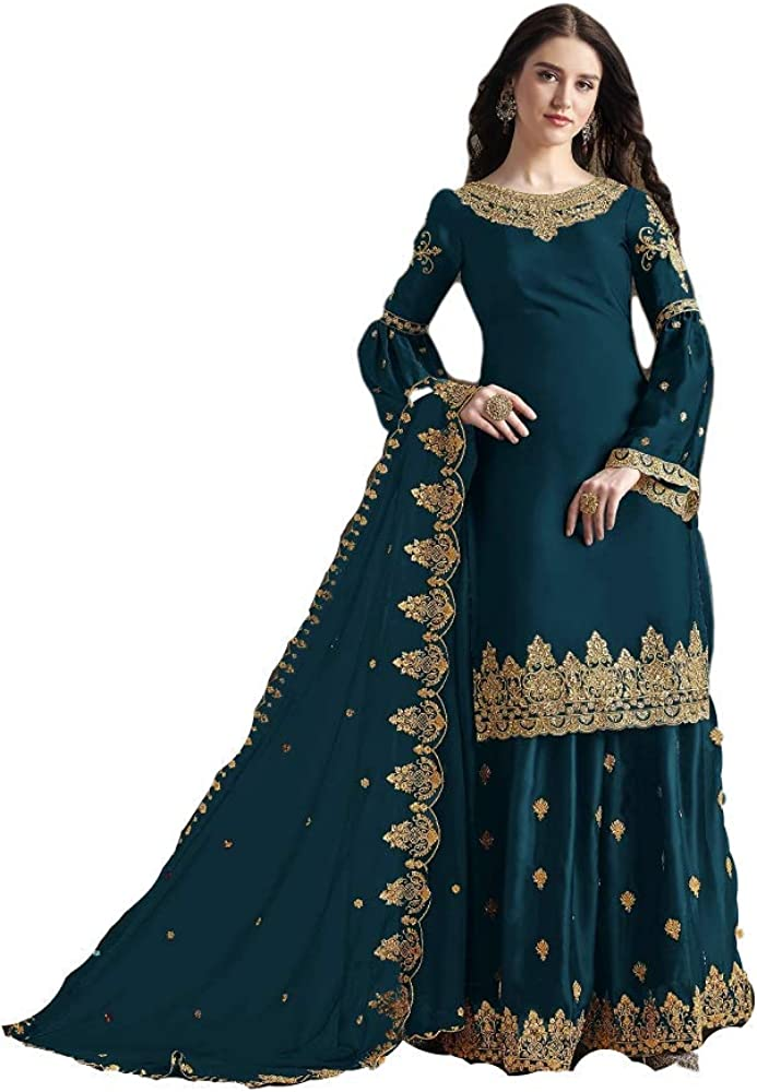 Prija Collection Ready to Wear Indian Pakistani Wedding Wear Palazzo Style Salwar Suit for Women