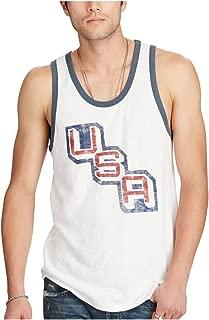 Denim & Supply Men's USA Graphic-Print Cotton Tank (White)