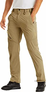 MAGCOMSEN Men's Lightweight Breathable Quick Dry Outdoor Hiking Anti-Rip Pants with Belt