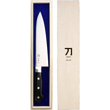 ナガオ 刀-カタナ- 包丁 霹靂 刃渡り18cm 青紙二号鋼 日本製
