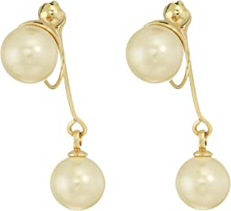 Vince Camuto Pearl Front/Back Clip Earrings