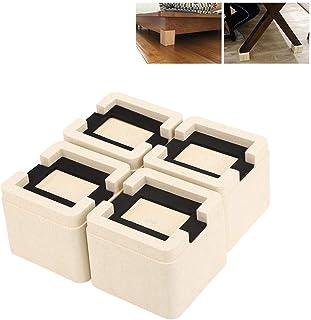 Pies de sofá, 4 Unids/Set Almohadilla de pie de Cama de Cama apilable Muebles Antideslizantes Muebles de sofá Mesa de gabinete Pies de Pata Esteras de pie Soporte para Cocina Oficina en el hogar