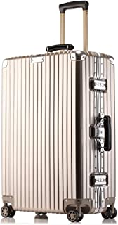 Swivel Trolley case Retro Travel case Waterproof Luggage abs Material Structure Solid Gold