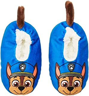 Paw Patrol Toddler Boys' Chase Fuzzy Babba Slipper Socks (Shoe Size: 8-10)
