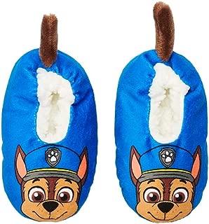Paw Patrol Toddler Boys' Chase Fuzzy Babba Slipper Socks (Shoe Size: 8-10)