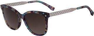 نظارة شمسية وايفارير للنساء من لاكوست، موديل L871S باللون البني