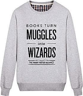 Unisex Books Turn Muggles Into Wizards Cute Sweatshirt