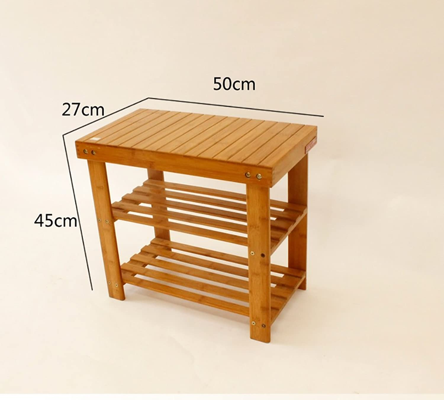 shoes Bench Organizing Rack shoes Rack, Bedside Solid Wood Bench, Multi-Function for The shoes Stool (Size   50cm)