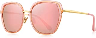 OLIEYE Vintage Oversized Shield Frame Women's Polarized Sunglasses Holiday Sunglasses for Women with Gift Box O6371