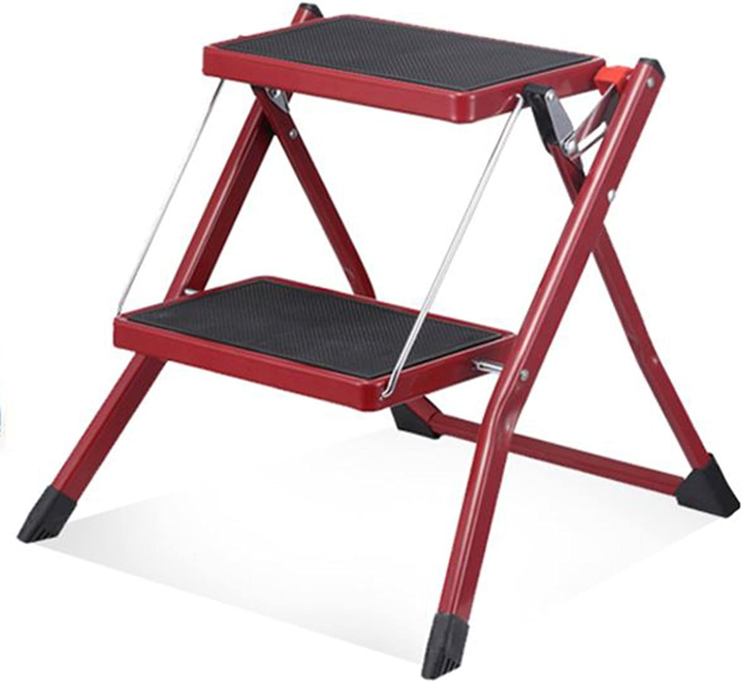 HAIPENG Ladder Stool Footstool Small Seat Foldable Step Ladder Herringbone Ladder Dual-use Utility 3 colors Available 49x48.5x44.5cm ( color   1 -Red )