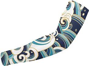 BJAMAJ Nautical Traditionele Oceaan Golven UV Bescherming Koeling Arm Mouwen Arm Cover Zon Bescherming Voor Mannen & Vrouw...