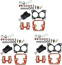 labwork 3 Set Carburetor Carb Kit for Johnson Evinrude V4 V6 85-235 HP Crossflow 439076