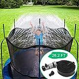 CT Aspersor Trampolín Set ,Cama elástica de Jardín Water Play Sprinklers Pipe , Hechos para Sujetar en la Caja de Red de Seguridad del trampolín (8 m)
