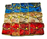 ying-xun donna 12x gioielli seta borsa borsa regalo borsa multicolore