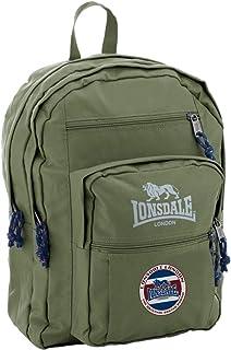 Lonsdale Unisex-child Regent Backpack Traditional Backpack, Color Green