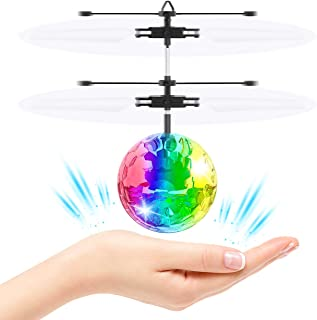 ATOPDREAM Flying Ball, RC Flying Toys Infrared Induction Helicopter Airplane Flashing LED Rechargeable Light Up Ball Light Indoor and Outdoor Games Toys for 10 Year Old Boys Girls Gifts