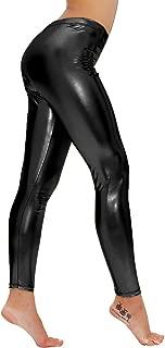 Lynley Women's Liquid Wet Look Shiny Metallic Stretch Leggings