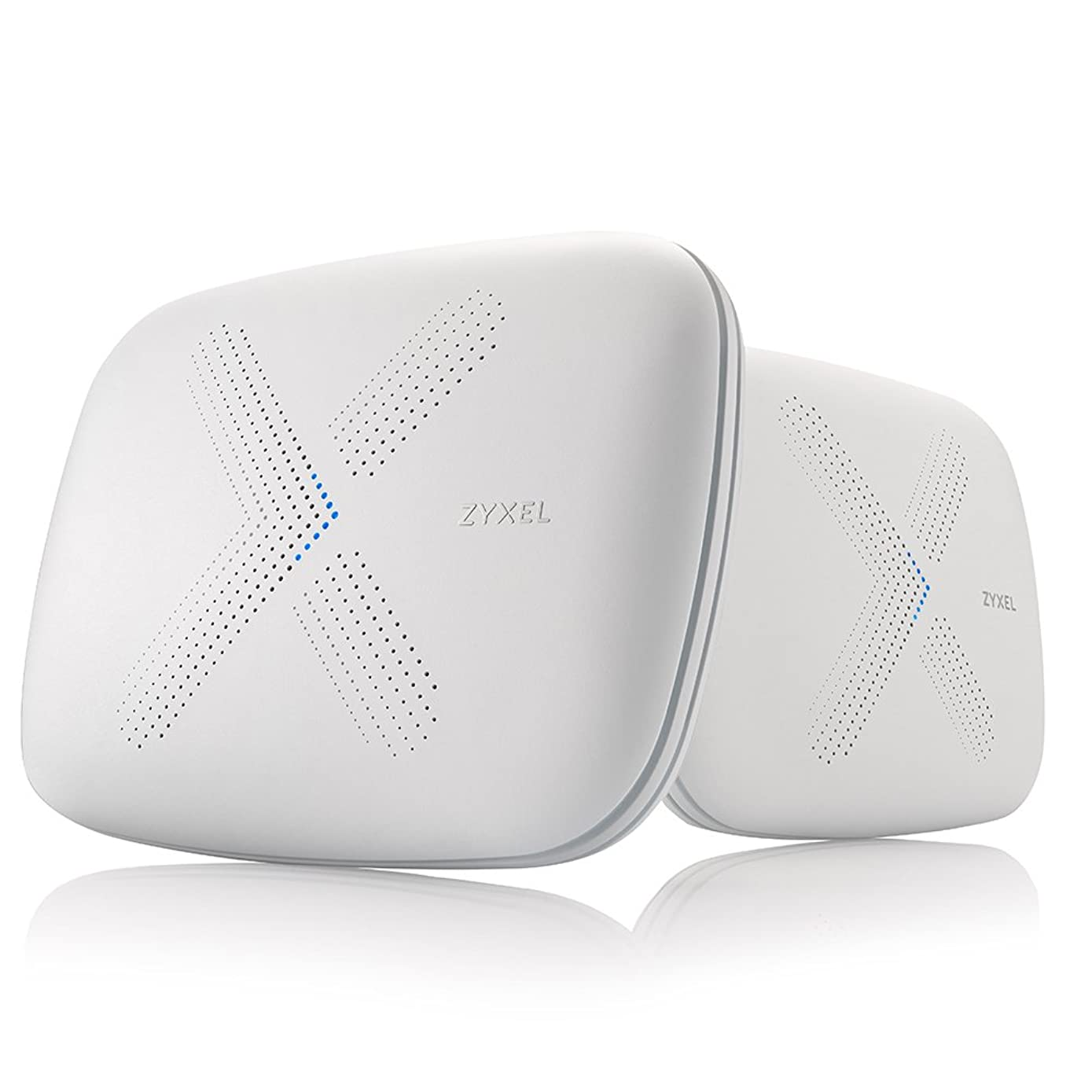ZyXEL WSQ50TWIN Multy X Kit, AC3000 Home Wi-Fi Mesh System Up to 5,000 sq. ft, Tri-Band Technology