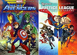 Avengers Vs. Justice League Animated Full Feature Bundle - Marvel's Next Avengers Heroes Of Tomorrow & Justice League Crisis On Two Earths (2 Animated Movie Collection)