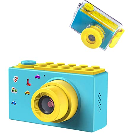 BlueFire 子供用カメラ キッズカメラ 防水 録画機能デジタルカメラ 10メートル防水機能付き フルHD 1080P 800万画素 2インチスクリーントイカメラ 人気 日本語適用 年齢制限6+(ブルー)