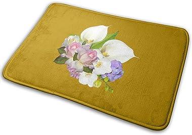 Floral Design Carpet Non-Slip Welcome Front Doormat Entryway Carpet Washable Outdoor Indoor Mat Room Rug 15.7 X 23.6 inch