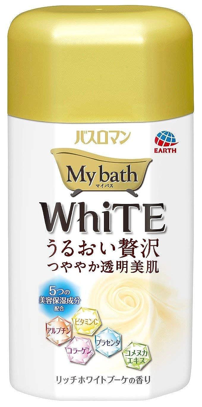 謙虚なオークアクロバットバスロマン マイバス ホワイト リッチホワイトブーケの香り 480g 【6点セット】