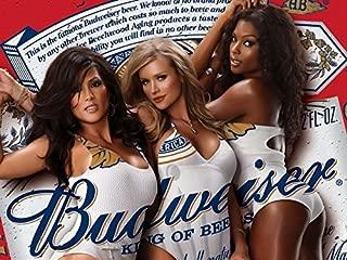 Tomorrow sunny Model Budweiser Girls Custom Stylish Classical Home Decor Fashionable Mondern Poster Size (44x33cm)