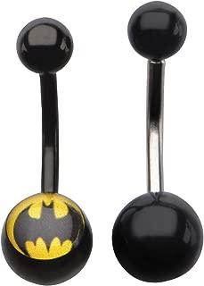 Unisex Batman 316L Surgical Steel Navel Rings Body Piercing Jewelry-14 Gauge 7/16