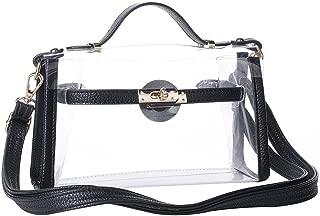 Yocatech Clear Crossbody Messenger Shoulder Bag Purse for Women Adjustable Strap, NFL Stadium Approved