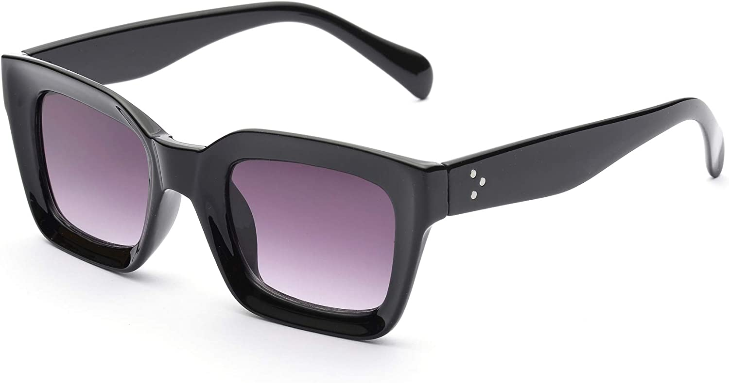 Classic Women Max 68% OFF Fashion Sunglasses-Sturdy New sales Chic Square Thick and Fr