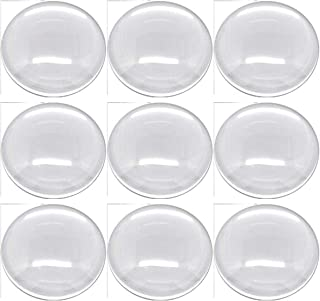 Rockin Beads Brand, 20 Clear Glass Dome Tile Cabochon Clear 30mm 1.18 Inch Non-calibrated Round