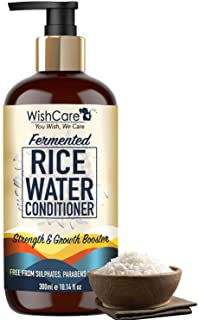 WishCare Fermented Rice Water Conditioner - Strength & Growth Formula - Free from Mineral Oils, Sulphates, Silicones & Par...