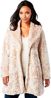 284ad1bda0f25 Roamans Women s Plus Size Shawl Collar Faux-Fur Coat
