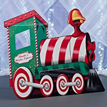 Christmas Santa's Train Standee Party Props Standup Photo Booth Prop Background Backdrop Party Decoration Decor Scene Setter Cardboard Cutout