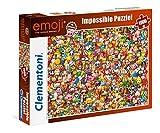 Clementoni 39388 EMOJI – 1000 Teile, Impossible Puzzle, Geschicklichkeitsspiel für die ganze...