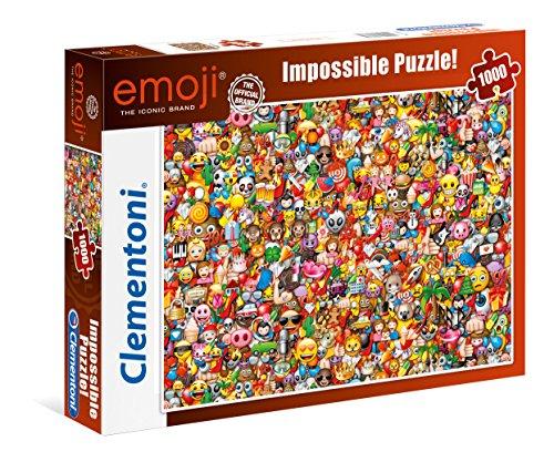 Clementoni 39388 EMOJI – 1000 Teile, Impossible Puzzle, Geschicklichkeitsspiel für die ganze Familie, farbenfrohes Legespiel, Erwachsenenpuzzle ab 14 Jahren