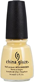 China Glaze Nail Polish, Lemon Fizz, 0.5 Fluid Ounce