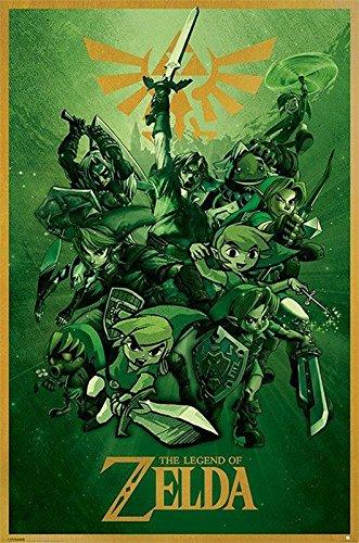 Nintendo Póster The Legend of Zelda/La Leyenda de Zelda Link/Conección (61cm x 91,5cm)