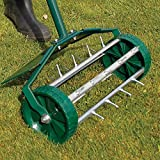 Coopers of Stortford Outdoor Garden Lawn Spike Aerator Roller