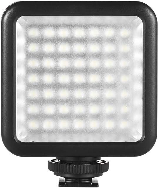 Andoer Mini LED Luz 49 pcs para Estudio Fotografía Lámpara LED de vídeo para cámara Canon Nikon y videocámara