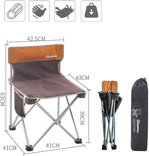 WBHD Confortable Chaise de Camping Ultralégère Chaises de Randonnée Pliantes pour Pique-Nique Pêche Barbecue Plage jusqu'à 110 kg avec Sac de Transport 4 Couleurs