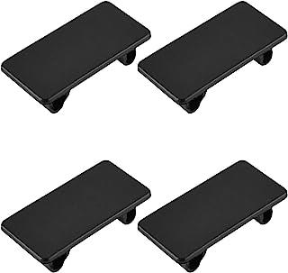 DGZZI Rocker Switch Panel 4PCS Black ABS Rectangular Rocker Switch Blank Snap-in Hole Plug Cover Bracket Filler