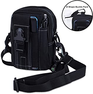 Keypower Direct Outdoor Tactical Holster Military Molle Hip Waist Belt Bag Wallet Pouch Purse Phone Case for Compact 9mm 380 Subcompact Pistols Guns Concealed Carry Waist Pack/Holster