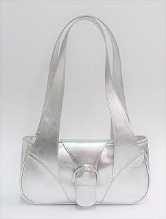Borsa Donna in pelle colore argento.