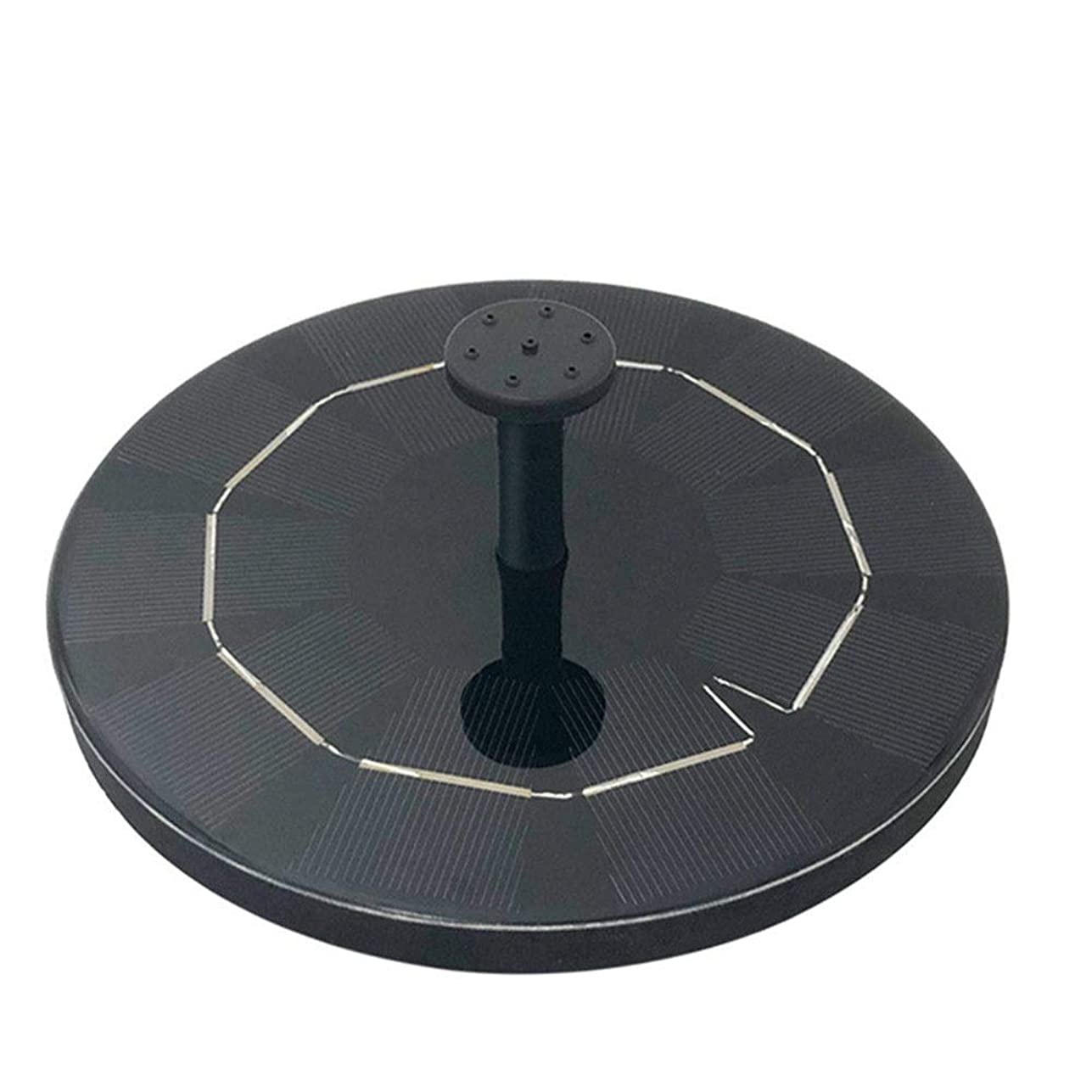 湿気の多い芝生鎮痛剤庭噴水池 ソーラーパネルで省エネ 流水太陽ストレージ噴水3.0Wラウンド太陽浮動噴水屋外鳥風呂 池でも使えるソーラー池ポンプ (Color : Black, Size : M)