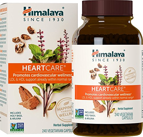 Himalaya HeartCare with Holy Basil & Arjuna for Cardiovascular Wellness and Heart Health Support 720mg, 240 Capsules, 2 Month Supply