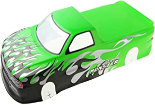 Coolplay 1/10 PVC Car Body Shell RC Racing Car Accessories for Pick Up Truck Venom T-10 - Green