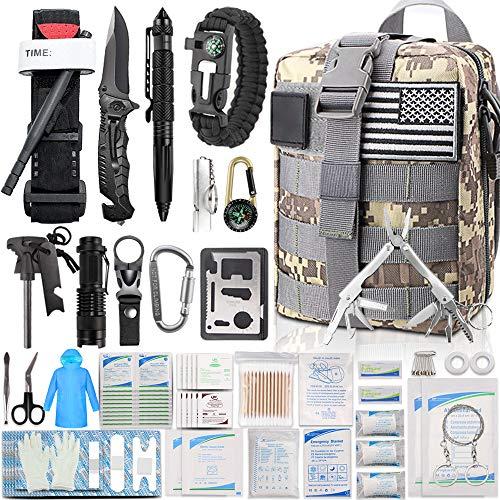 EMDMAK First Aid Kit Survival Kit, 276Pcs Tactical Molle EMT IFAK Pouch Outdoor Gear Emergency Kits...