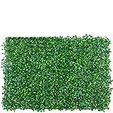 SJAUE Artificial Faux Ivy Hedge Leaf and Vine Valla de privacidad Pantalla de Pared Faux Greenery Grass Telón de Fondo Malla Enrejado Decorativo al Aire Libre 23 X 15 Pulgadas Verde